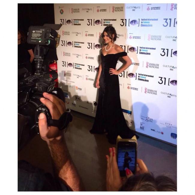 Presentando la gala de inauguración del 31 Festival Cinema Jove